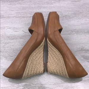 🌵NWOB AEROSOLES Brown Leather Wedges